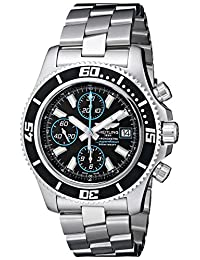 Breitling Men's A1334102/BA83 Fixed Chronograph Black Dial Watch