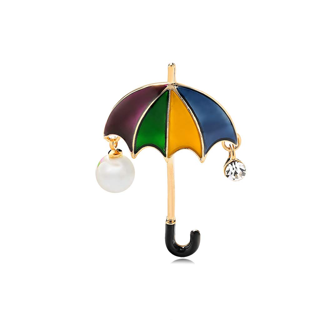Wmaple Parapluie Broche Broche Femmes Broche Bijoux Cadeau Merveilleux pour Daily Dress Up Anniversaire Anniversaire Couleur 4.0 2.9cm