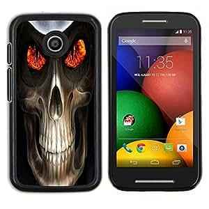 EJOOY---Cubierta de la caja de protección para la piel dura ** Motorola Moto E ** --Cráneo malvado Muerte Reaper