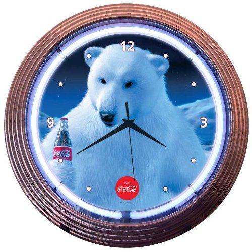 coca cola polar bear clock - 7