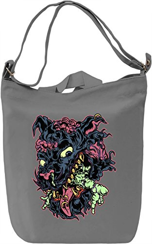 Zombie dog Borsa Giornaliera Canvas Canvas Day Bag| 100% Premium Cotton Canvas| DTG Printing|