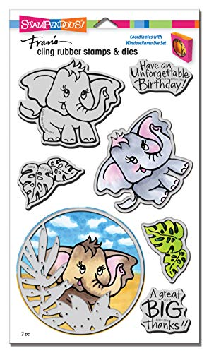 (Stampendous CLD19 Elephant Cling Stamp/Die Set,)