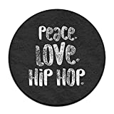 Yiot HIP HOP Dance Design Rug Non-Skid Rubber Backing Area Rug For Living Room/dining Room/bedroom/foyer/playroom Diameter Size: (23.6/0.4) Inch