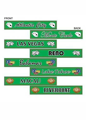 Casino Party Destination Street Sign Cut Outs Pk4 (Street Sign Cut Outs)