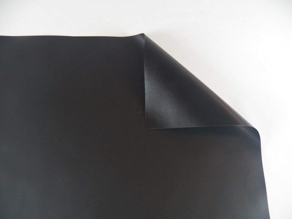 Vinyl Pond Liner 20 oz. 22 mil Heavy Duty Black Tarp (20' x 20') by Billboard Tarps
