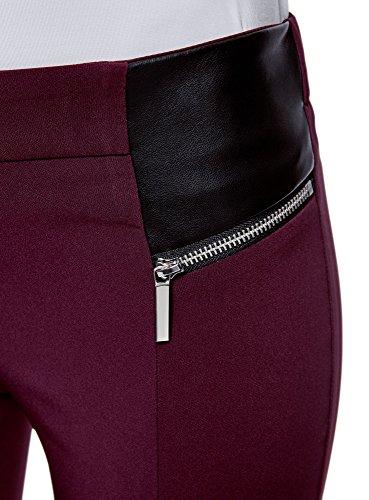 Décoratifs Rouge Oodji Stretch Collection 4900n Avec Pantalon Zips Femme qZg76f