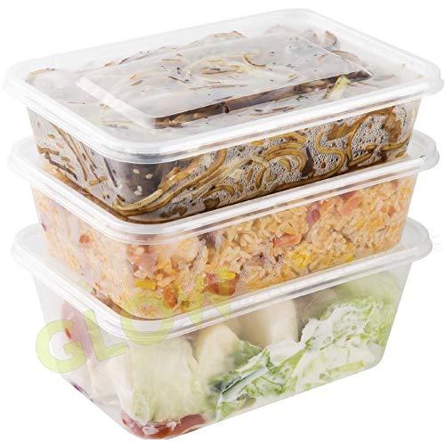 Paquete de 24 contenedores de alimentos de plástico transparente ...