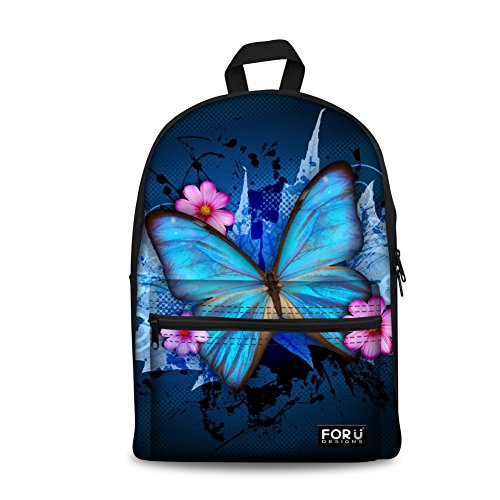 CHAQLIN 3D Butterfly School Backpack for Teens Girls Travel Daypack
