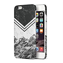 Icy Mountains White & Black Marble Blocks Hard Plastic Phone Case For iPhone 6 Plus & iPhone 6s Plus