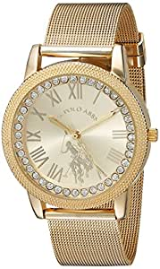 U.S. Polo Assn. Women's Analog-Quartz Watch with Alloy Strap, Gold, 18 (Model: USC40110