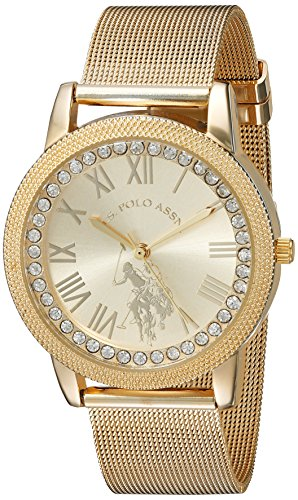 U.S. Polo Assn. Women's Analog-Quartz Watch with Alloy Strap, Gold, 18 (Model: USC40110)