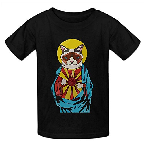 Price comparison product image Snowl Holy Cat V9p Youth Crew Neck Personalized T Shirts Black