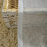 YAOTE Luxury Window White Curtains High Thread
