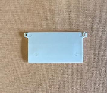 Jellinghaus Sonnenschutz Beschwerungsplatten Breite 89 mm Gewichte für Vertikaljalousie Lamellen Vorhang in weiß aus Kunststo
