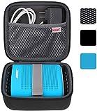BOVKE for Soundlink Color II/UE ROLL 360 Wireless Speaker Hard EVA Shockproof Carrying Case Storage Travel Case Bag Protective Pouch Box, Black