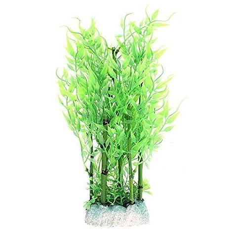 DealMux plástico acuario de agua de bambú Planta de hierba artificial 29cm Altura verde: Amazon.es: Productos para mascotas