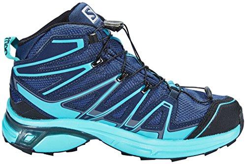 Salomon X-chase Metà Delle Donne In Gore-tex Trail Scarpe Blu Corsa
