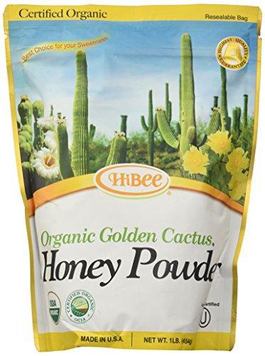Hibee Golden Cactus Honey Powder Organic, 16 Ounce Unit