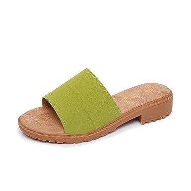 PLOT Damen Sandalen Sommer2018 Neu Einfarbig Schuhe Flip-Flops Sandals Draussen Slipper Damen Schuhe Strandschuhe