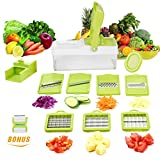 Vegetable Cutter,Chopper,Grater & Julienne Slicer with Seven Interchangeable Stainless Blades