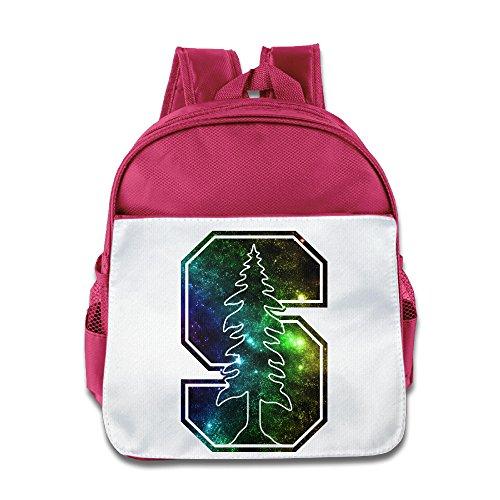 SAXON13 Kid's Funny Pink Toys 150g Stanford University S Logo School Bag
