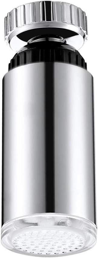 Jiamins resistencia a la corrosi/ón durable 360 /° Rotary agua grifo colorido luz LED cabeza ducha grifo luz para ba/ño
