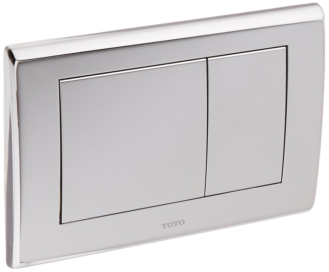 Toto YT820#CP Convex Push Plate with Dual Button, Polished Chrome by TOTO