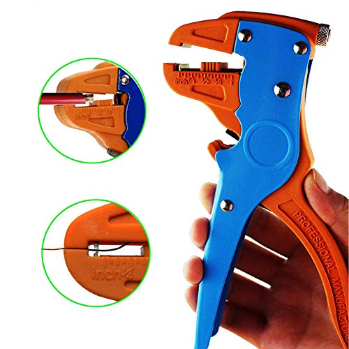 Knoweasy Automatic Wire Stripper and Cutter,Heavy Duty Wire Stripping Tool 2 in 1 for Electronic and Automotive Repair (Best Automatic Wire Stripper)