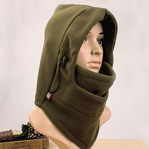 Double-layer Heavy-duty Polar Fleece Winter Balaclava Hood (Army Green)