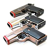 LOT of 3 - G1 Novelty Pistol Gun (Not Real) Mix Color Dual Jet Flames Pocket Torch Lighter - New Unboxed