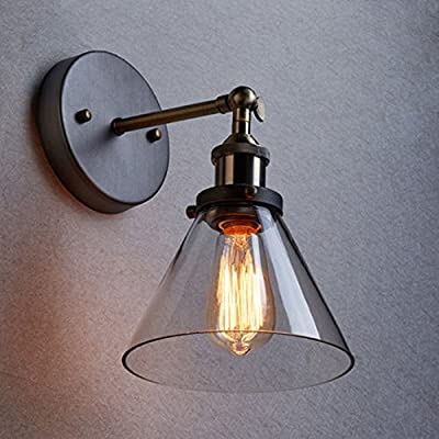 WINSOON Industrial Edison Antique 1-Light Wall Sconce and Clear Glass Shade Simplicity