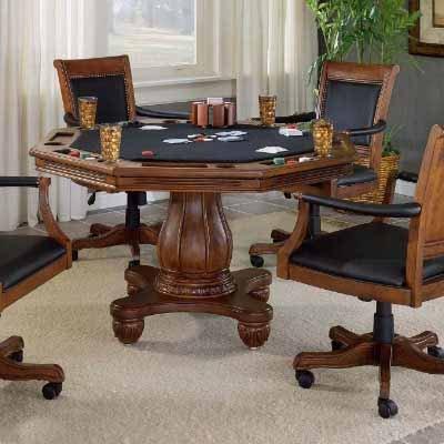 Hillsdale Kingston Poker Table Set