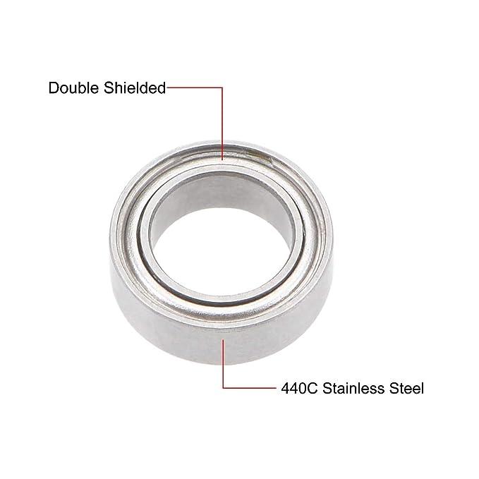 SMR62zz 440c Stainless Steel Ball Bearing Bearings MR62zz 10 PCS 2x6x2.5 mm