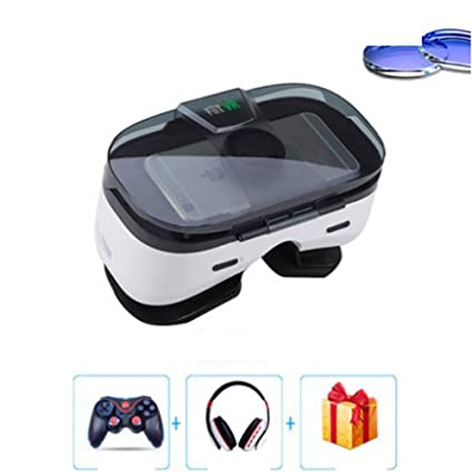 Amazon com: With Eye Protection VR Headset 3D Glasses 360 HD