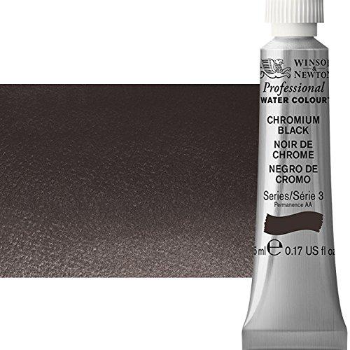 W&N Artist Watercolor, 5ml Tube, Chromium Black
