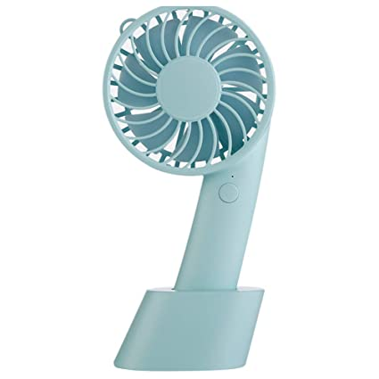 Color : Blue, Size : One Size Mini USB Table Desk Personal Fan USB Electric Mini Portable Handheld Fan for Office Home Traveling Outdoor Metal Design Quiet Operation USB Cable Fan