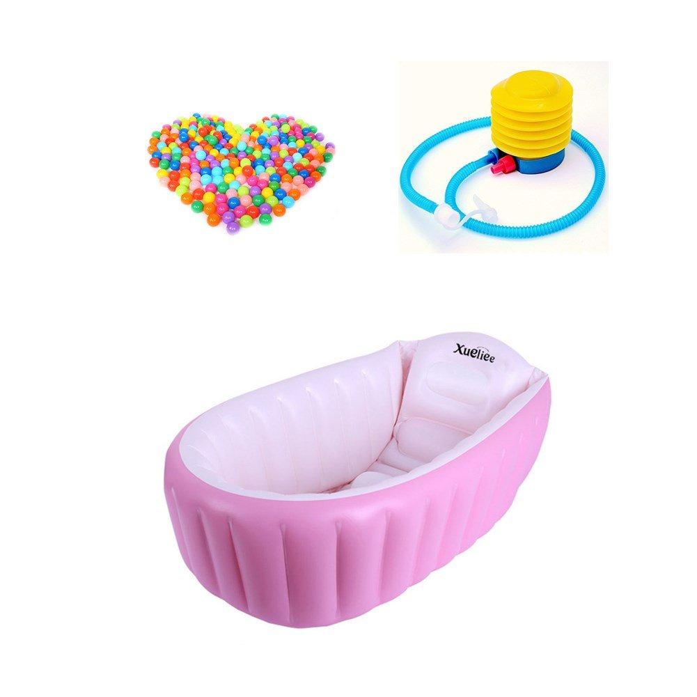 4/Jahre mit Kissen-Platz f/ür 1 zusammenklappbar xueliee Aufblasbare Baby-Badewanne mit Luft im Schwimmbad-Dicke Kind Baby Kleinkind