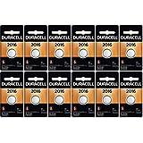 12-Pack Duracell 2016 Batteries 3.0 Volt Lithium Coin Button