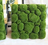 Artificial Moss Panel Faux Moss Mat Fake turf Synthetic Lawn Home Garden Craft Green Decoration (12, Light Green 3030cm)