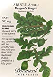 Dragon's Tongue Wild Arugula Seeds - 500 mg