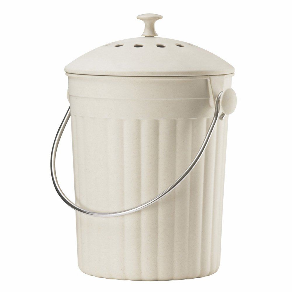 Cream Eco Compost Caddy - Composting Bin for Food Waste Recycling ...
