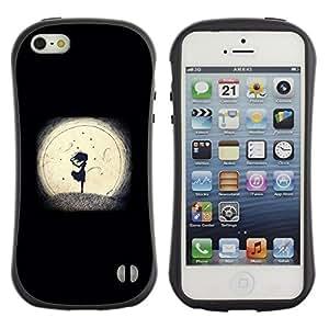 "Hypernova Slim Fit Dual Barniz Protector Caso Case Funda Para Apple iPhone SE / iPhone 5 / iPhone 5S [Noche minimalista Muchacha Romántica""]"