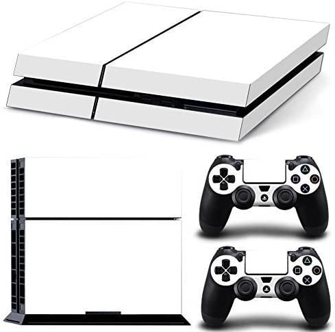 NDAD Protective Vinyl Pure White Hot Skin Decals Cover for Sony PlayStation 4 PS4 Console and 2 PS4 Controller Sticker Skins
