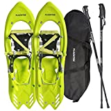 Flashtek Snowshoes for men and women High End Plastic Hiking/ Terrain Snowshoes with Heel Lift + Nordic Pole + Free Carry Bag Arrow Series