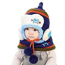 Changeshopping Cute Winter Baby Kids Girls Boys Warm Woolen Coif Hood Scarf Caps Hats