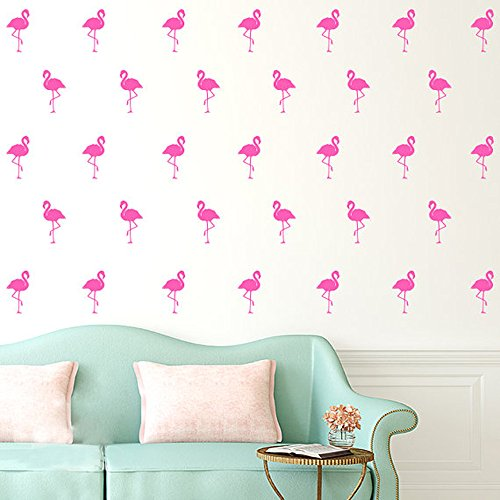 Flamingo Stickers Removable Nursery Mural Pink product image