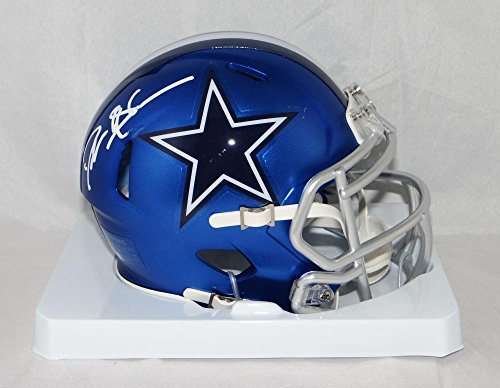 Deion Sanders Helmet - Deion Sanders Autographed Dallas Cowboys BLAZE Mini Helmet- JSA W Auth White