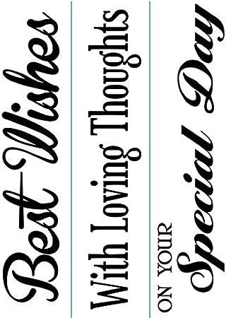 Darice 1217-78 Embossing Folder 3//Pack Phrases Border Design