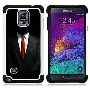 - ANONYMOUS SUIT - - Doble capa caja de la armadura Defender FOR Samsung Galaxy Note 4 SM-N910 N910 RetroCandy