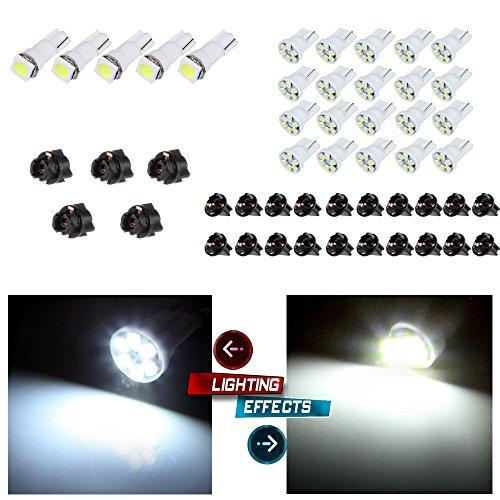 20x T5 5050 1SMD Wedge Xenon White LED Light Bulbs +5x T10 W5W Wedge 168 194 LED Bulb + 5x T10 1/2